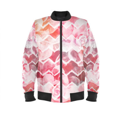 Desert Dreams, Blush - Ladies Bomber Jacket