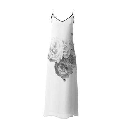 Slip dress|reception dress| wedding Reception| Monochrome Rose