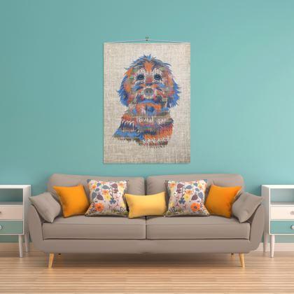 100 x 140cm Cockapoo wall hanging
