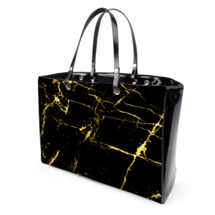 Black and Gold Marble Handbags