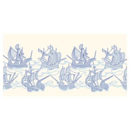 Blue Ships Travel Wallet