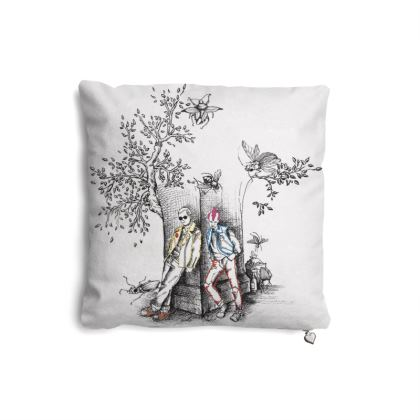 "Premium Feather Filled Cushion - Limited Edition ""Punk Toile"" Print"