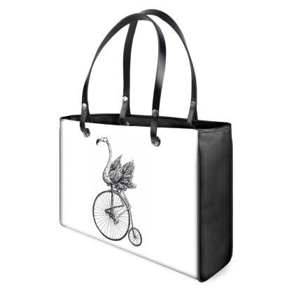 """Tote Shopper Bag - Limited Edition Hand Illustrated """"Just Riding Along"""""""