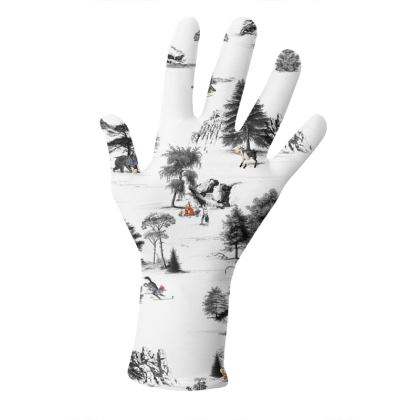 """Reusable 2pk Gloves - Limited Edition """"The Walk Amongst Us"""" Print"""