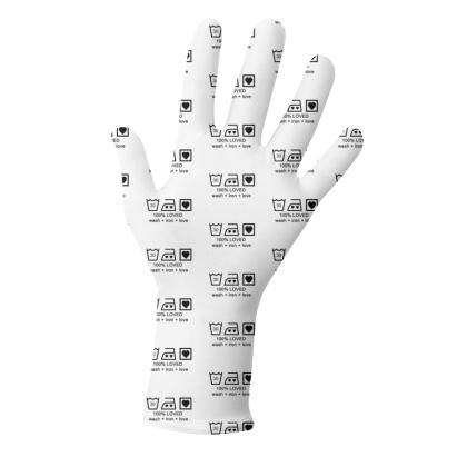 """Reusable 2pk Gloves - Limited Edition """"100% Loved"""" Print"""