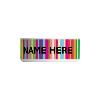Personalised Pet Bowl Candy Stripe Design