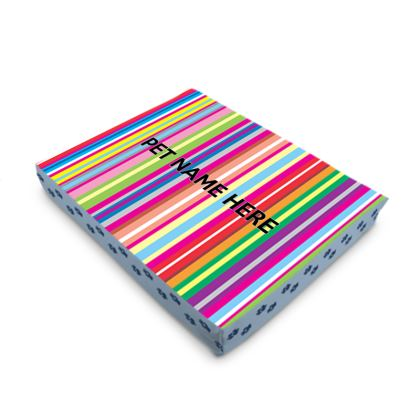 Personalised Pet Bed 4 Size Options Candy Stripe Design