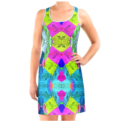 DELLA SPENCER FOIL FUN PRINT VEST DRESS Vest Dress