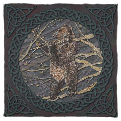 Celtic Bear Scarf, Wrap or Shawl
