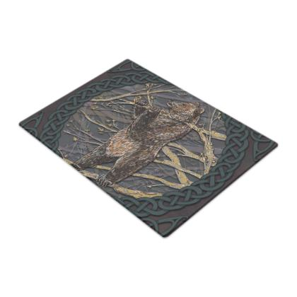 Celtic Bear Glass Chopping Board