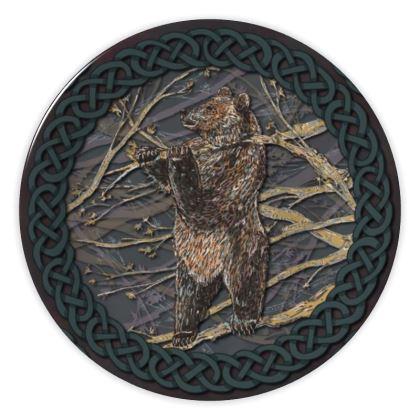 Celtic Bear China Plate