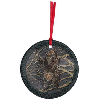 Celtic Bear Hanging Ornament