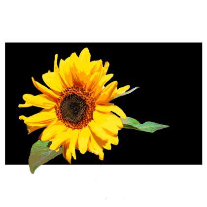 PACK - Reusable Face Mask / SunFlower on Black