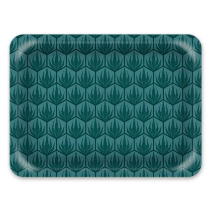 Palm Deco Pattern Serving Tray