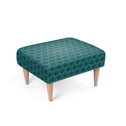 Palm Deco Pattern Footstool