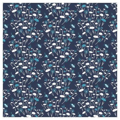 Navy Meadow Luxury Cushion