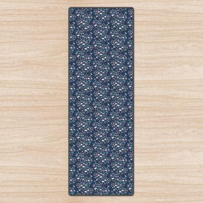 Navy Meadow Yoga Mat
