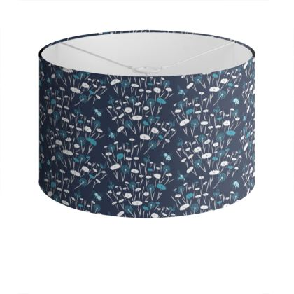 Navy Meadow Lampshade
