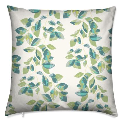 Painted Beech Leaves Luxury Cushion
