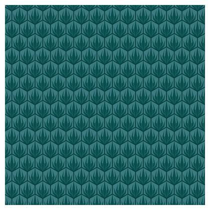 Palm Deco Pattern Cushion