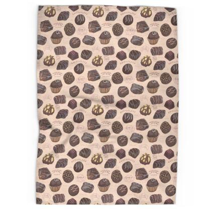 Delectable Chocolate Tea Towel