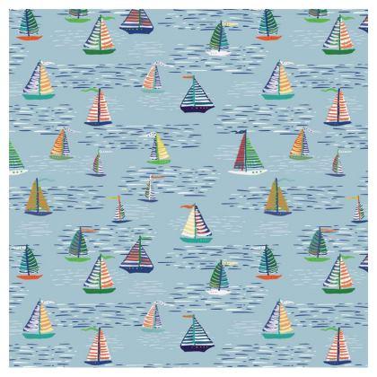 Regatta Collection (Boats Small  - Blue) - Luxury Cushion