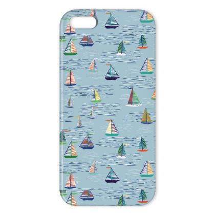 Regatta Collection (Boats Small - Blue) - Luxury iPhone X Case