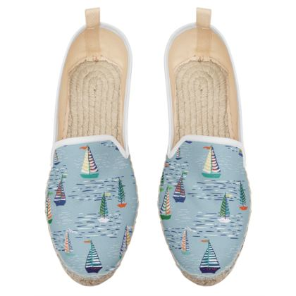 Regatta Collection (Boats - Blue) - Luxury Loafer Espadrilles