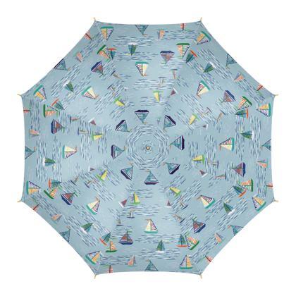 Regatta Collection (Boats Small - Blue) - Luxury Umbrella
