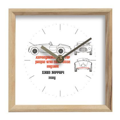 Enzo Ferrari Wall Clock