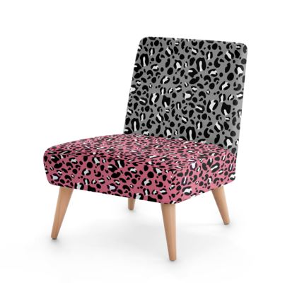 """Occasion Chair - Limited Edition """"Leopard Print Love Collage"""" Print"""