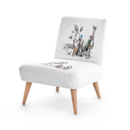 """Occasion Chair - Limited Edition """"Punk Toile Life"""" Print"""