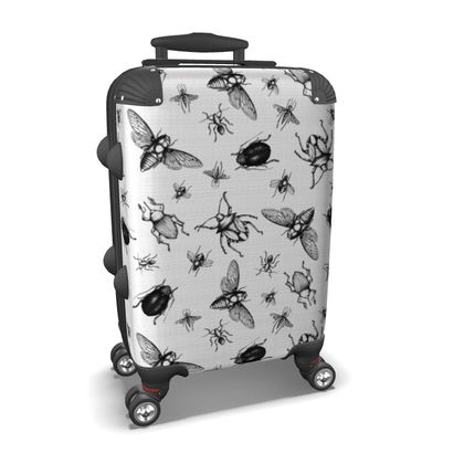 """Custom Made Hard Case Suitcase – Limited Edition """"Buzzing Bees"""" Print"""