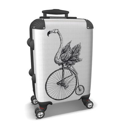 """Custom Made Hard Case Suitcase – Limited Edition """"Just Riding Along"""" Print"""