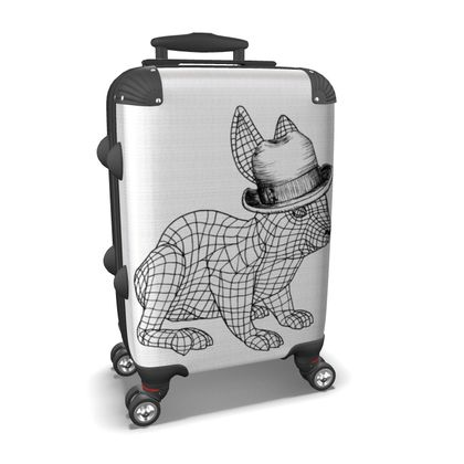 """Custom Made Hard Case Suitcase – Limited Edition """"Hopping Along"""" Print"""