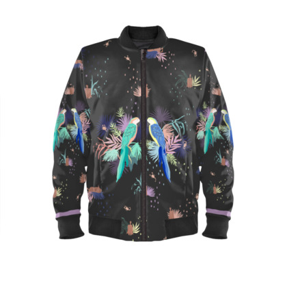 Birds print Ladies Bomber Jacket