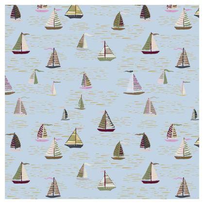 Regatta Collection (Boats Small - Blue Heritage) - Luxury Cushion