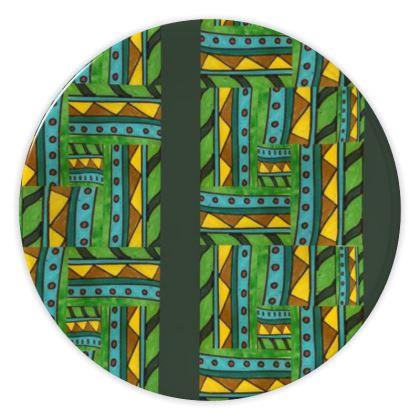 green geometric plate