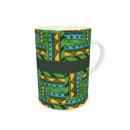 green geometric Mug