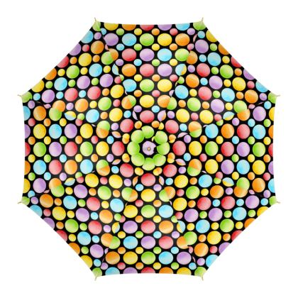 Rainbow Polka Dots Umbrella