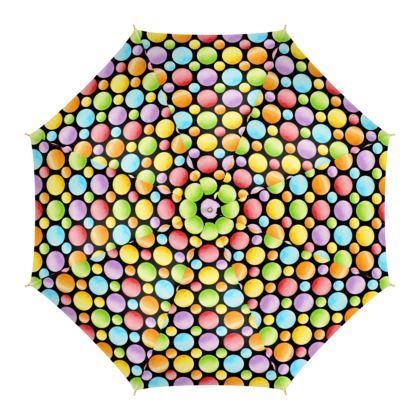 Rainbow Polka Dots Umbrella