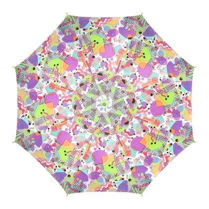 Eighties Rad Geometric Umbrella