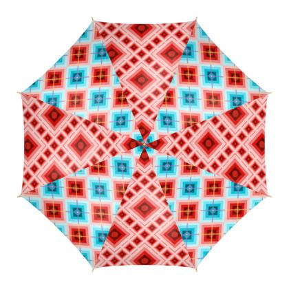 Fun Geometric Argyle Umbrella