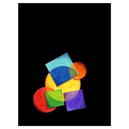 Candy Rainbow Geometric Umbrella