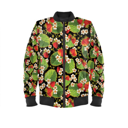Strawberry Ladies Bomber Jacket