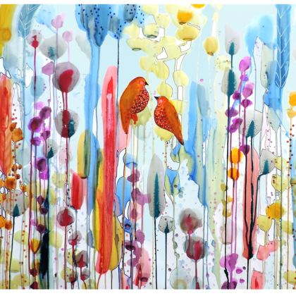 Ask Me Colourful Birds Deckchair