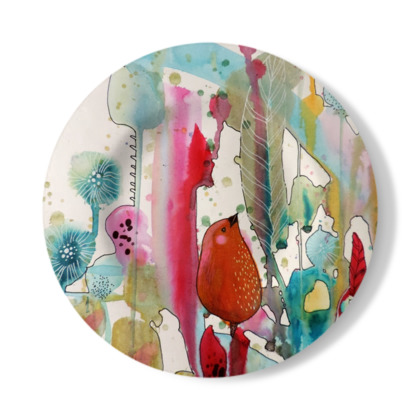 Playing In The Woods Decorative Plate