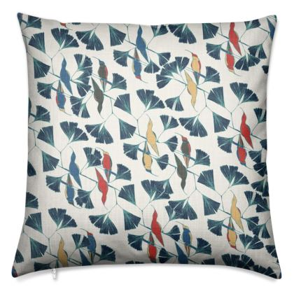 Humming Bird Collection (Red, White and Blue) - Luxury Cushion