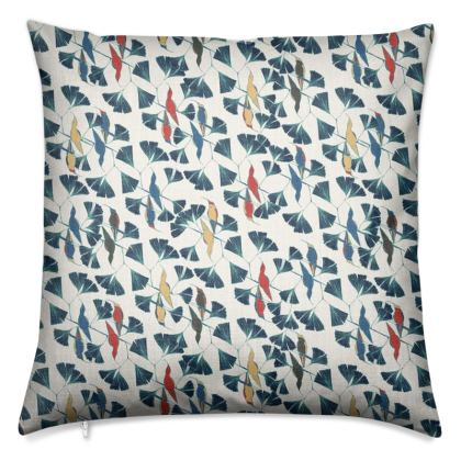 Humming Bird Collection (Red, White and Blue -Small) - Luxury Cushion