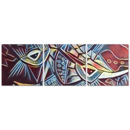 Ninja II Triptych Canvas
